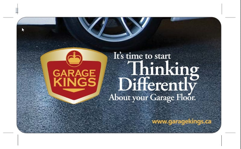 Business card for Garage Kings, Moncton, NB