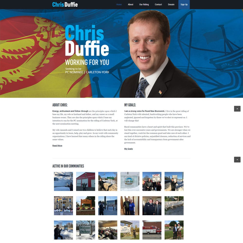 Website for Chris Duffie