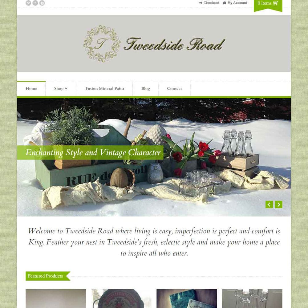 Website for Tweedside Road Home Decor