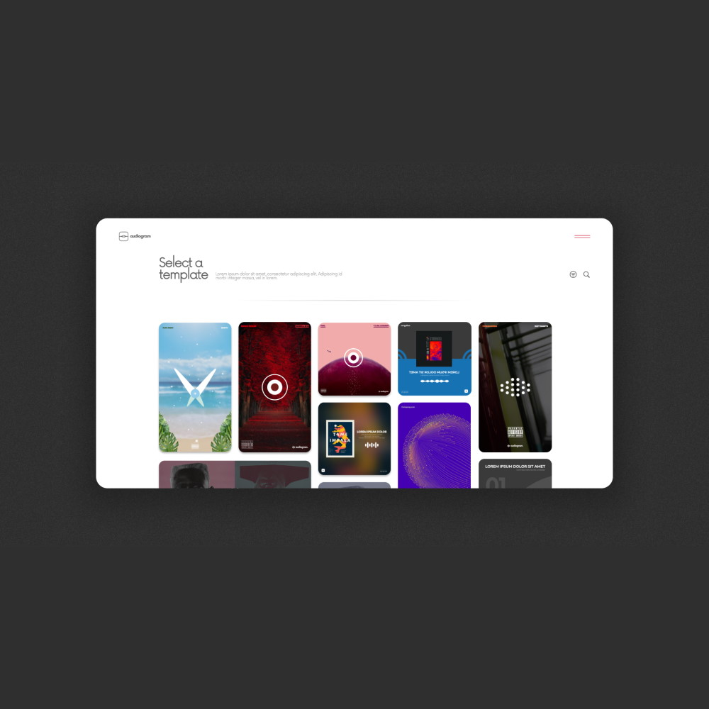 Audiogram UI Template Page