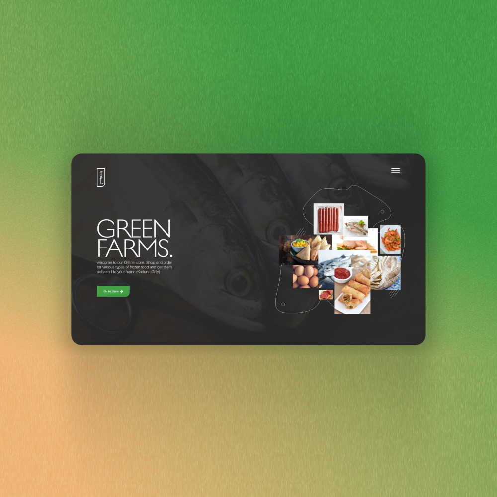 App UI for Green Farms, Main Page