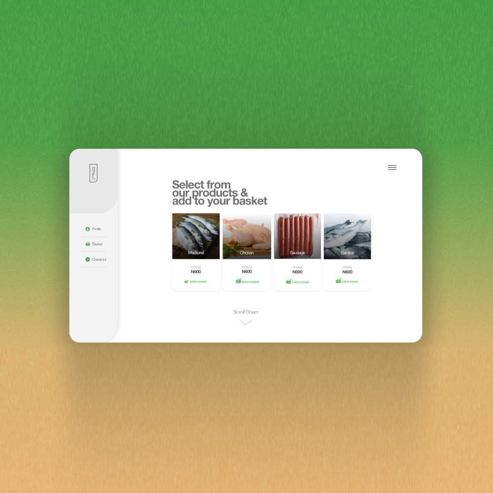 App UI for Green Farms, Inner Page